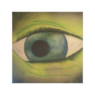 ojo impresiones en lienzo estiradas
