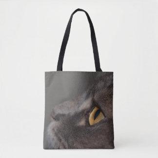 Ojo-Macro del gato Bolsa De Tela