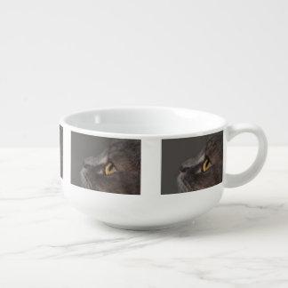 Ojo-Macro del gato Bol Para Sopa