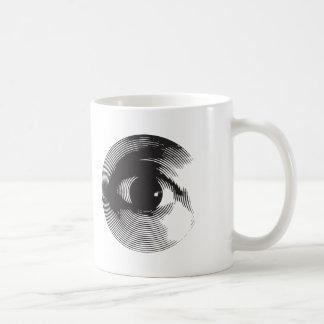 ojo morado taza básica blanca
