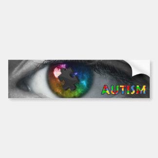 Ojo multicolor de la pegatina para el parachoques  pegatina para auto