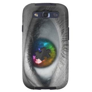Ojo multicolor del caso de Samsung S3 de la concie Samsung Galaxy S3 Cárcasas