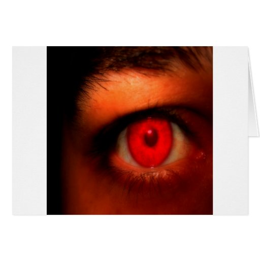 Ojo oscuro abstracto del vampiro tarjeta de felicitación