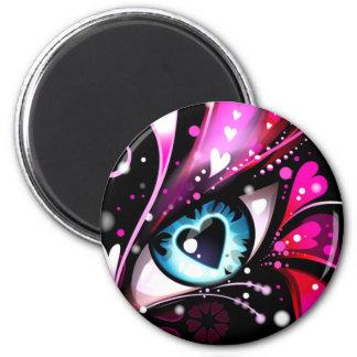 Ojo para el amor imán redondo 5 cm