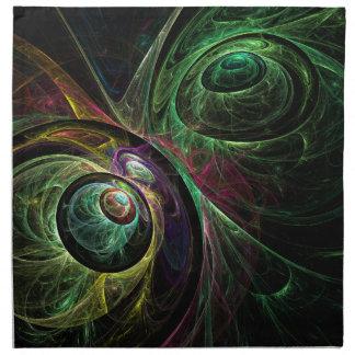 Ojo para observar la servilleta del arte abstracto