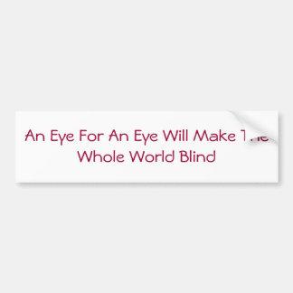 Ojo para una pegatina para el parachoques del ojo pegatina para auto