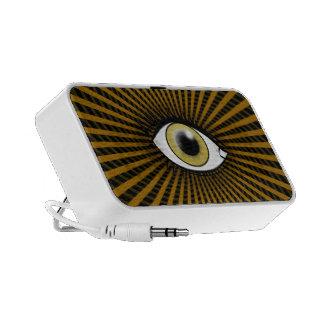 Ojo pardo hipnótico laptop altavoz