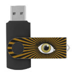 Ojo pardo solar pen drive giratorio USB 2.0