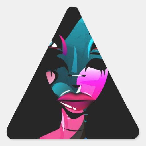 Ojo Pegatina De Triangulo