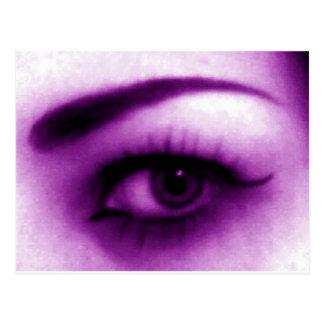 Ojo púrpura postal