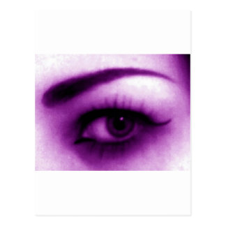 Ojo púrpura tarjeta postal