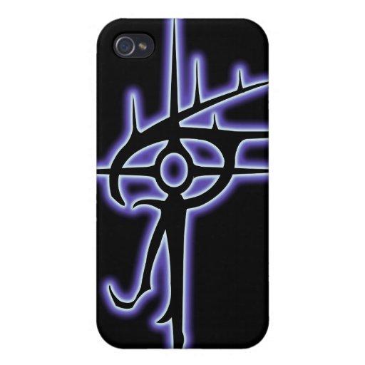 Ojo que brilla intensamente del negro de Vlaxia iPhone 4 Cárcasa