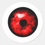 ¿Ojo rojo como gráfico, ojo del monstruo? ¿Ojo Pegatinas Redondas