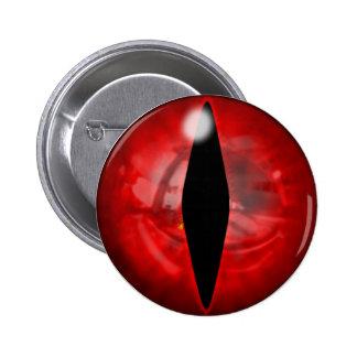 Ojo rojo del dragón pin redondo de 2 pulgadas