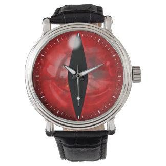 Ojo rojo del dragón relojes de mano