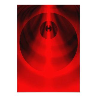 """Ojo rojo invitación 5"""" x 7"""""""