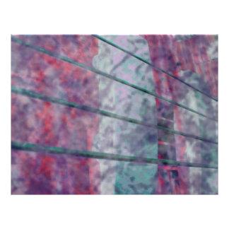 """Ojo rosado del tigre del grunge de las recogidas d folleto 8.5"""" x 11"""""""