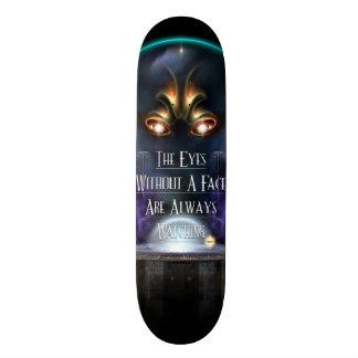 Ojo sin una cubierta del monopatín de la cara skate boards