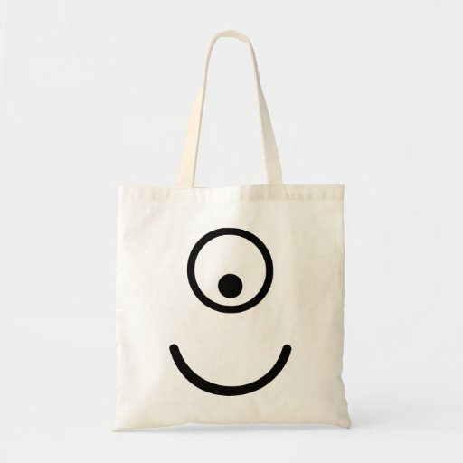 Ojo sonriente del cyclope bolsa lienzo