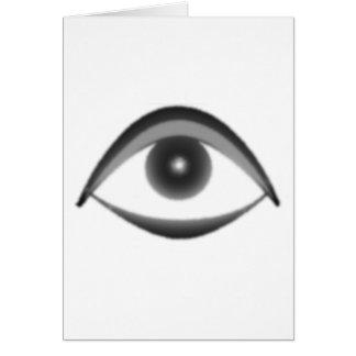 ojo tarjeta de felicitación