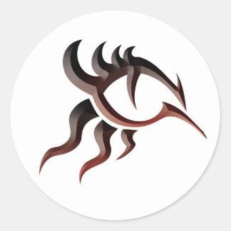 Ojo Tat del dragón Pegatina Redonda