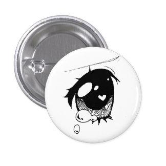 ojo triste del animado: (mini botón pin redondo de 1 pulgada