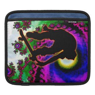 Ojo tropical del huracán con el skater funda para iPads