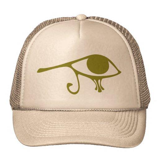 Ojo verde del fango de Horus Gorras De Camionero