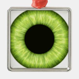 Ojo verde espeluznante de Halloween Adorno Navideño Cuadrado De Metal