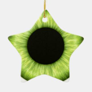 Ojo verde espeluznante de Halloween Adorno Navideño De Cerámica En Forma De Estrella