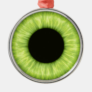 Ojo verde espeluznante de Halloween Adorno Navideño Redondo De Metal