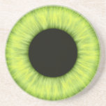Ojo verde espeluznante de Halloween Posavasos Diseño