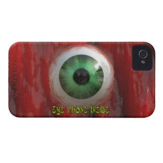 Ojo verde espeluznante y caja orgánica roja del carcasa para iPhone 4