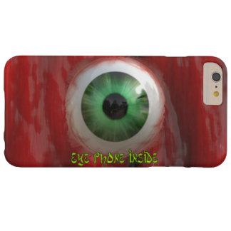 Ojo verde espeluznante y caja orgánica roja del funda de iPhone 6 plus barely there