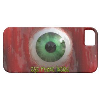 Ojo verde espeluznante y caja orgánica roja del iPhone 5 carcasa