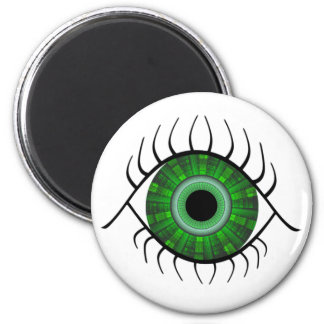 Ojo verde imán de nevera
