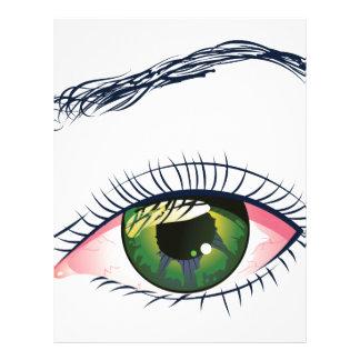 Ojo verde plantillas de membrete