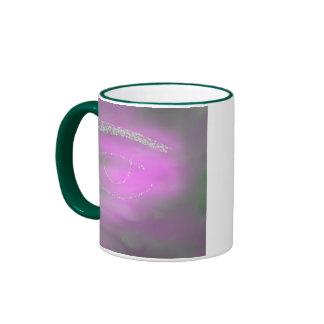 Ojo verde taza de dos colores