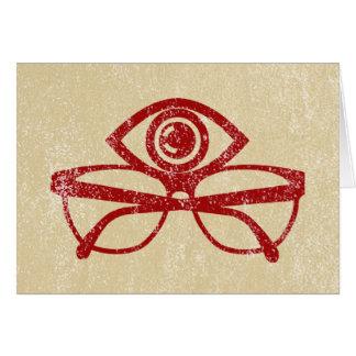 Ojo y lentes del vintage tarjeta de felicitación