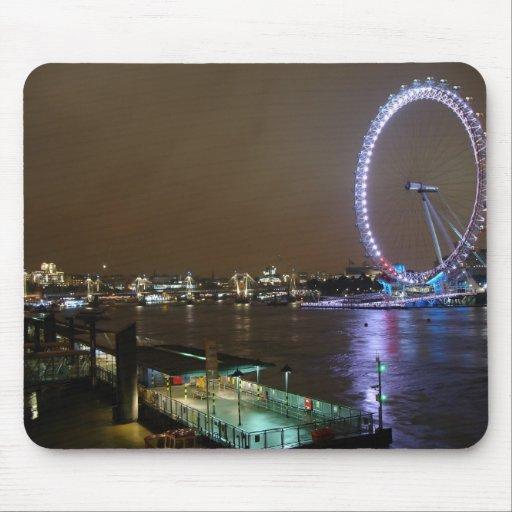 Ojo y Thames de Londres Tapete De Raton