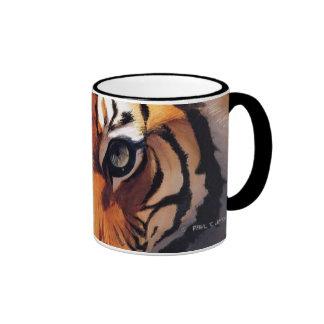 """""""Ojos acuarela de Paul Jackson del tigre"""" Taza De Dos Colores"""