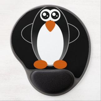 Ojos acuosos del pingüino alfombrilla con gel