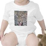 Ojos africanos salvajes del leopardo trajes de bebé