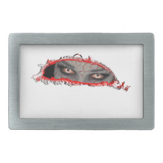 ojos agrietados hebilla de cinturón rectangular