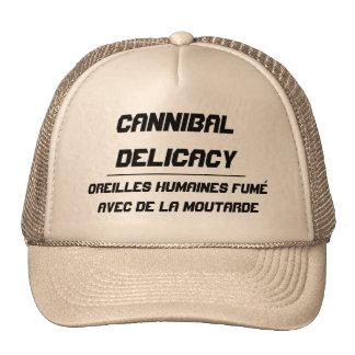Ojos ahumados de la delicadeza del caníbal gorras