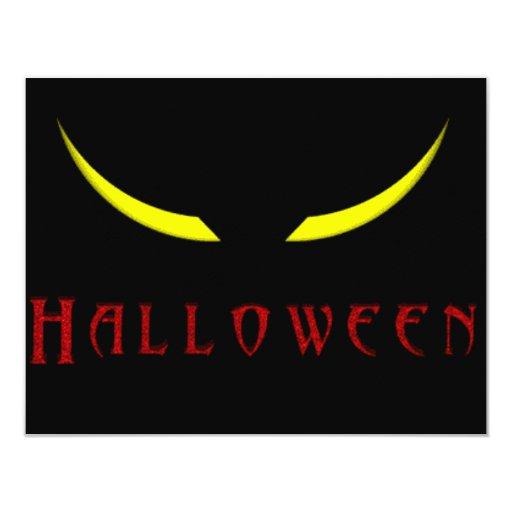Ojos asustadizos de Halloween Invitación 10,8 X 13,9 Cm