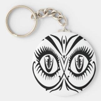 Ojos atractivos de la hembra llavero redondo tipo pin