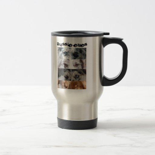 Ojos australianos taza de café