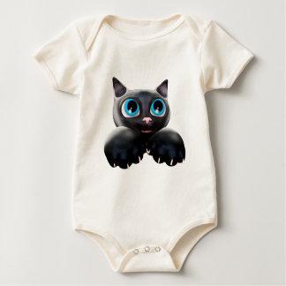 Ojos azules 3D del dibujo animado del gatito Enteritos
