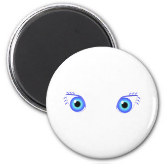 Ojos azules bonitos imán de frigorífico